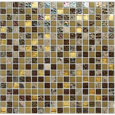 "Onix USA Crystone CS004 11-4/5"" x 11-4/5"" Stone and Glass Mosaic"