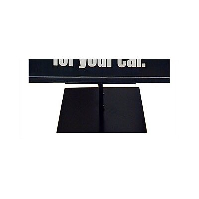 "Pinquist Tool & Die 48"" - 90"" Vertical Adjustable Light Weight Double-Sided Banner Stand"