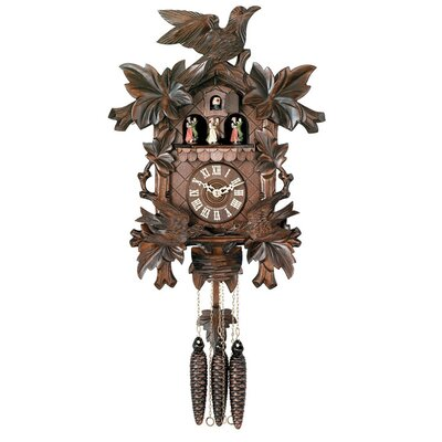 River City Clocks Musical Cuckoo Clocks with Moving Birds Feed Nest Design