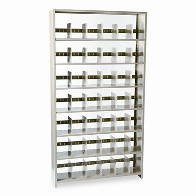 "Tennsco Corp. Snap-Together Open Shelving Steel 7-Shelf Closed Starter Set, 48"" Wide"
