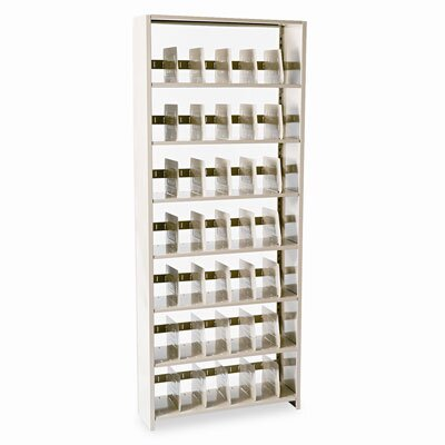 Tennsco Corp. Snap-Together Open Shelving Steel 7-Shelf Closed Starter Set