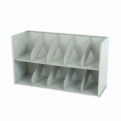 Tennsco Corp. Add-A-Stack Shelving System 1-Shelf Filing Tier, 36w x 13-3/16d x 10h, Gray