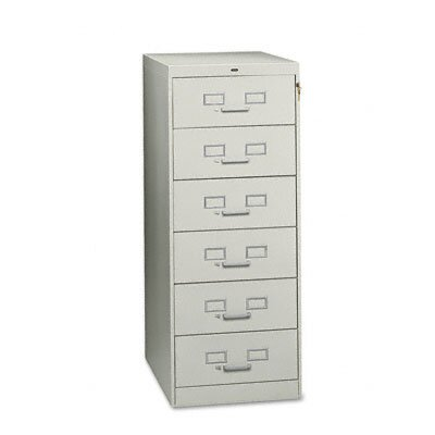 Tennsco Corp. 6-Drawer Multimedia Cabinet for 6 X 9 Cards, 21-1/4W X 52H