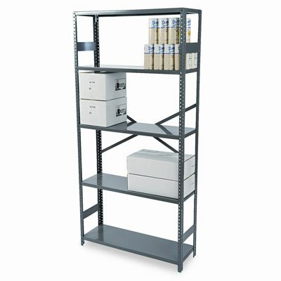 Tennsco Corp. Commercial Steel Shelving, 5 Shelves, 36W X 12D X 75H