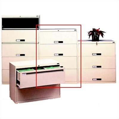Tennsco Corp. Lateral File With 4 Drawers and Retractable Doors