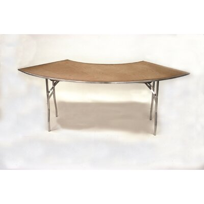 Maywood Furniture Standard Series Plywood Folding Crescent Banquet Table