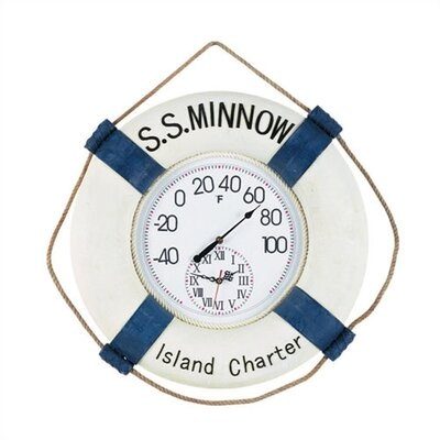 "RAM Gameroom Products ""S.S. Minnow"" Outdoor Thermometer and Clock"