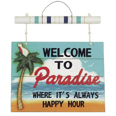 "RAM Gameroom Products ""Welcome to Paradise"" Sign"
