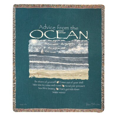 Advice From an Ocean Tapestry Cotton Throw