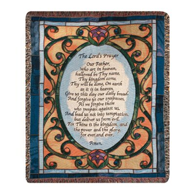 Manual Woodworkers & Weavers Lord's Prayer Tapestry Throw