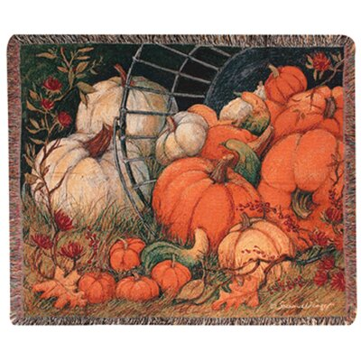 Pumpkin Garden Tapestry Cotton Throw