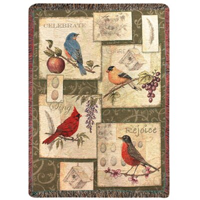 Songbirds Tapestry Cotton Throw