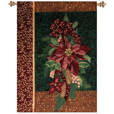 Manual Woodworkers & Weavers Winter Poinsettia Tapestry