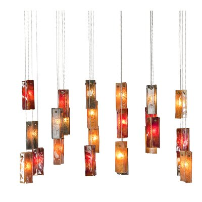 Light In Art by Shimal'e Peleg Bells 24 Light Chandelier