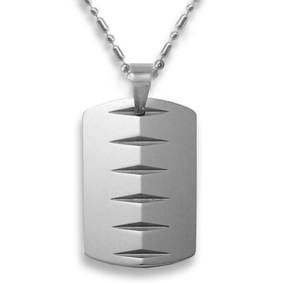 Tungsten Carbide Dog Tag Necklace