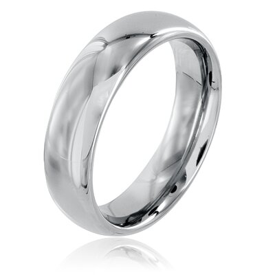 Men's Tungsten Domed Polished Band Ring