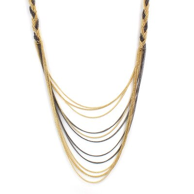 Two-tone Braided Chain Necklace