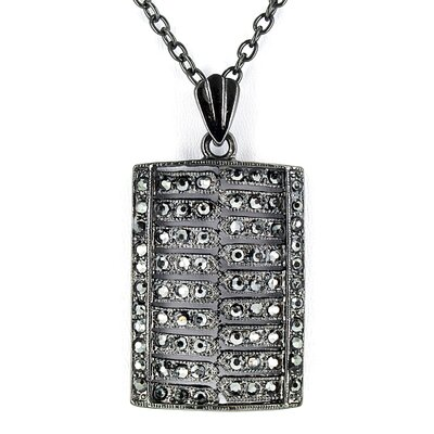 Hematite Crystal Pendant Necklace
