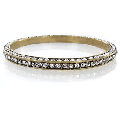 West Coast Jewelry Crystal Accented Bangle Bracelet