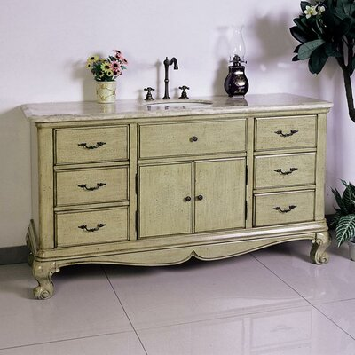 "Legion Furniture 60"" Solid Wood Sink Chest Vanity Set"