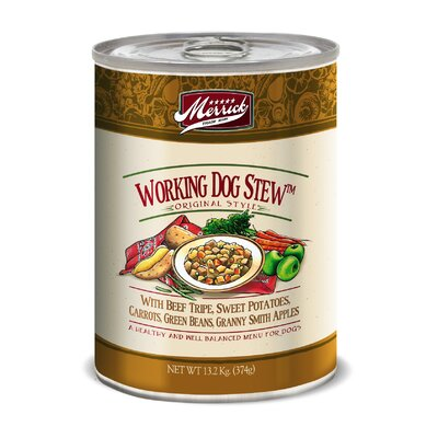 Merrick Pet Care Working Dog Stew Canned Dog Food (13.2-oz, case of 12)