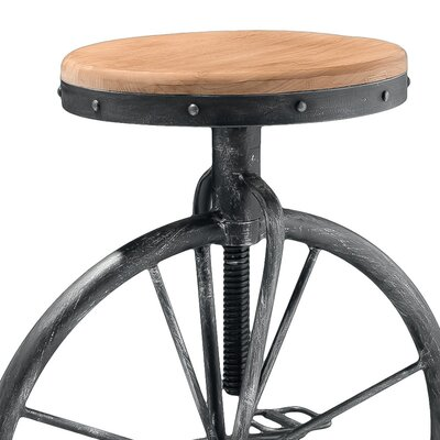 Home Loft Concept Michaelo Bicycle Wheel Adjustable Barstool