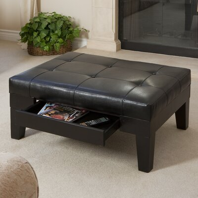 Home Loft Concept Chatham Leather Cocktail Ottoman