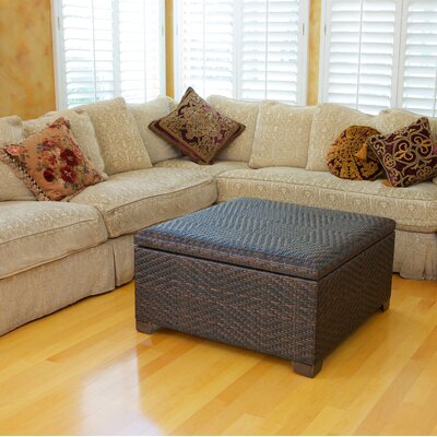 Home Loft Concept Wicker Indoor/Outdoor Storage Ottoman