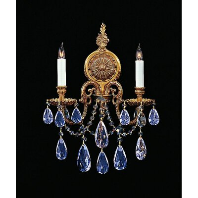 Crystorama Novella 2 Light Wall Sconce with Swarovski Strass Crystal