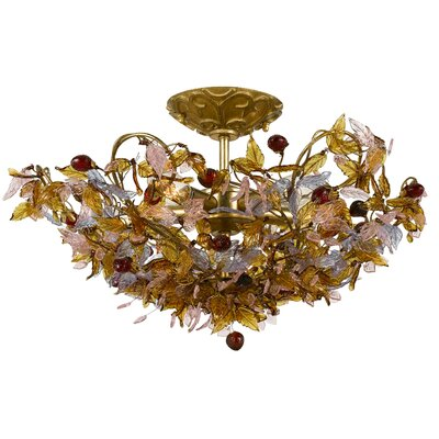 Crystorama Fiore 5 Light Semi Flush Mount
