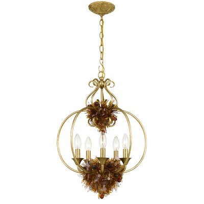Crystorama Fiore 5 Light Foyer Pendant
