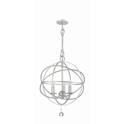 Crystorama Solaris 3 Light Mini Chandelier