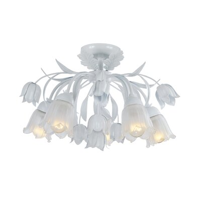 Crystorama Southport 5 Light Semi Flush Mount