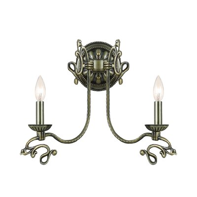 Crystorama Charleston 2 Light Wall Sconce