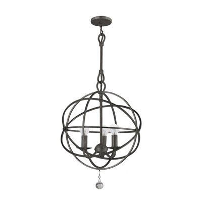 Crystorama Solaris 3 Light Mini Foyer Pendant