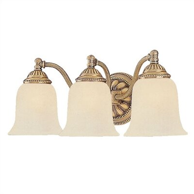 Crystorama 3 Light Bath Vanity Light