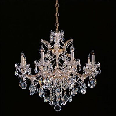 Bohemian Crystal 9 Light Candle Chandelier