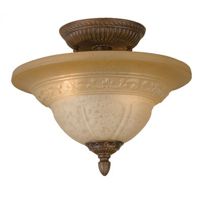 Oxford 2 Light Semi Flush Mount