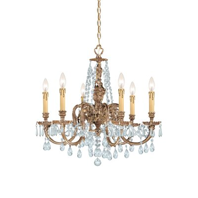 Olde World 6 Light Candle Chandelier
