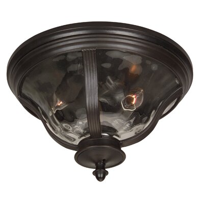 Jeremiah Frances 2 Light Outdoor Flush Mount