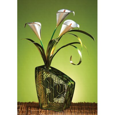 Deco Breeze Cala Lilies Figurine Table Top Fan