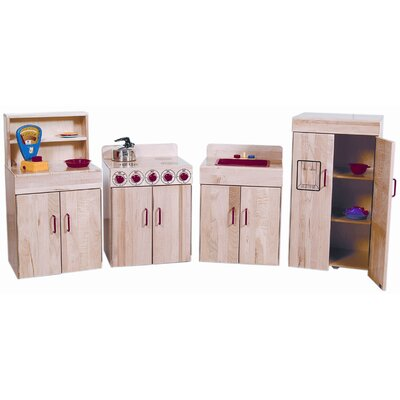 Wood Designs Heritage 4 Piece Maple Kitchen Appliances Set