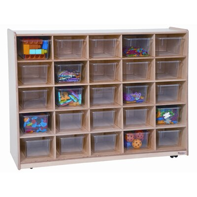 Wood Designs Tip-Me-Not Twenty Five Tray Storage Unit
