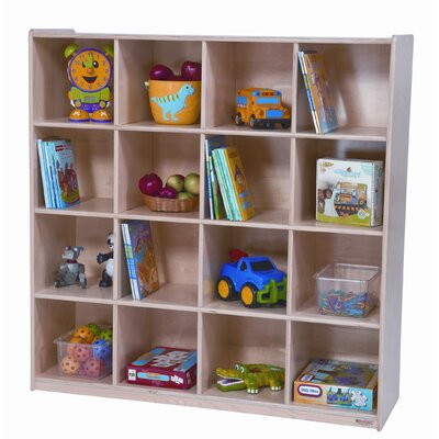 Wood Designs Sixteen Section Cubby Storage