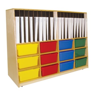 Wood Designs Tip-Me-Not Portfolio Storage Unit