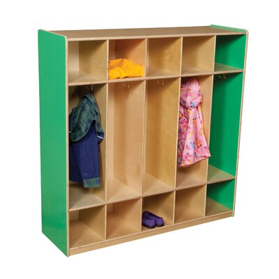 Wood Designs Five Section Locker