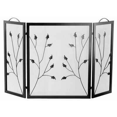 Napoleon Flat Top Leaf Design 3 Panel Fireplace Screen
