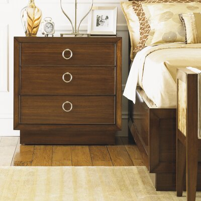 Mirage 3 Drawer Nightstand