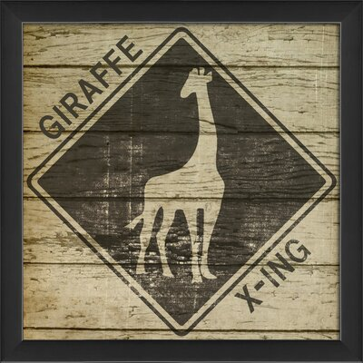 Blueprint Artwork Giraffe Xing Wall Art