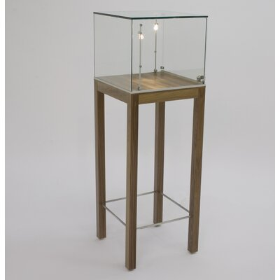 Tecno Display Square Pedestal Showcase with Glass Top